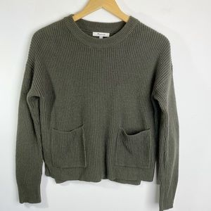 Madewell Crewneck Pocket Front Sweater Size XS